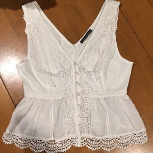 Women's NWT Abercrombie & Fitch White Top